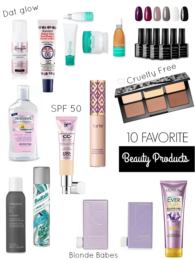 10 FAVORITE BEAUTY PRODUCTS