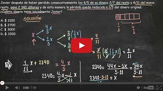 http://video-educativo.blogspot.com/2013/11/planteo-de-ecuaciones-con-fracciones.html