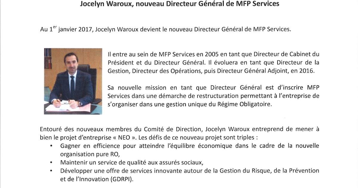 Waroux Directeur Mfp Mine D'infosJocelyn Général Services Nommé De f6Ybv7gy