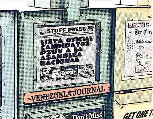 Newsstand tipo cómic - candidatos PSUV a la Asamblea Nacional