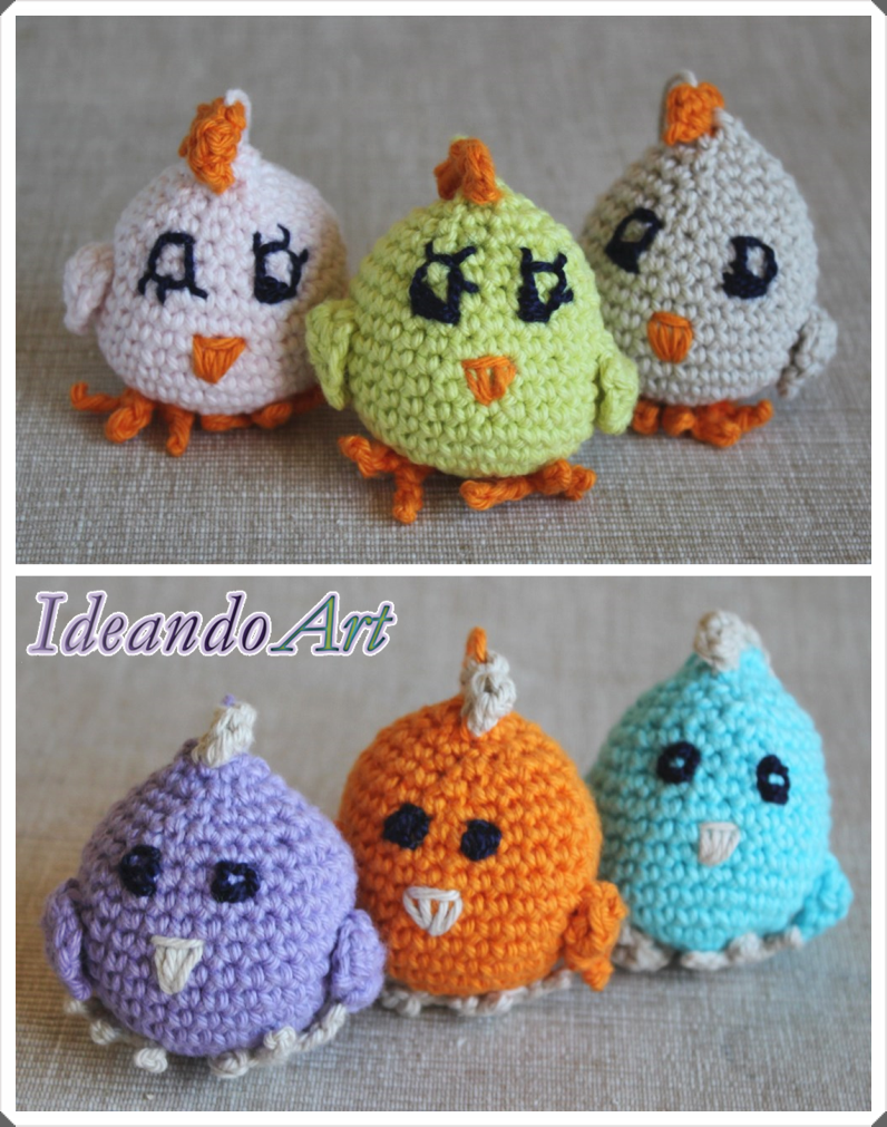 Pollitos amigurumi handmade