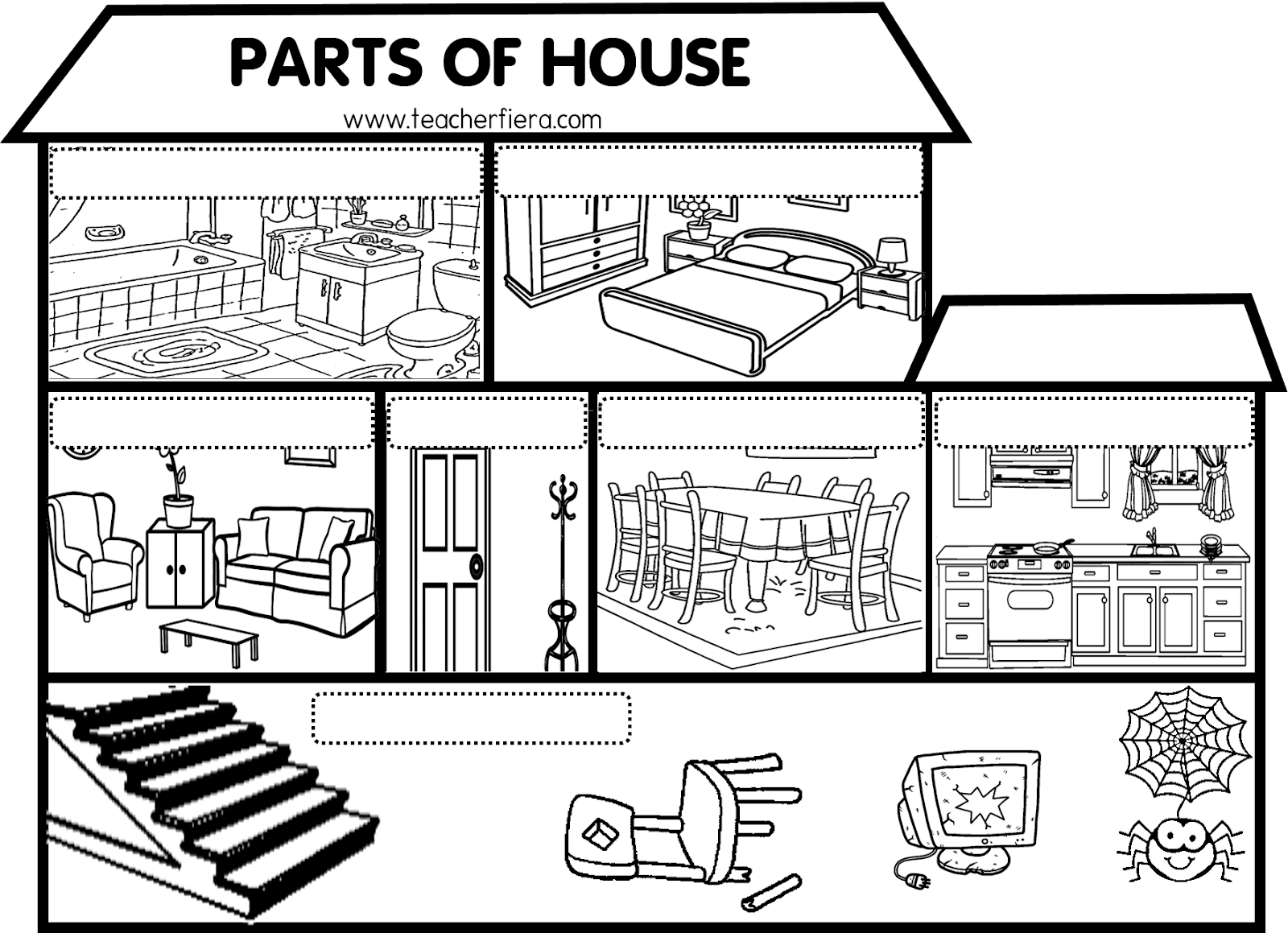 teacherfiera.com: MAKING A GIANT POSTER FOR PARTS OF HOUSE ...