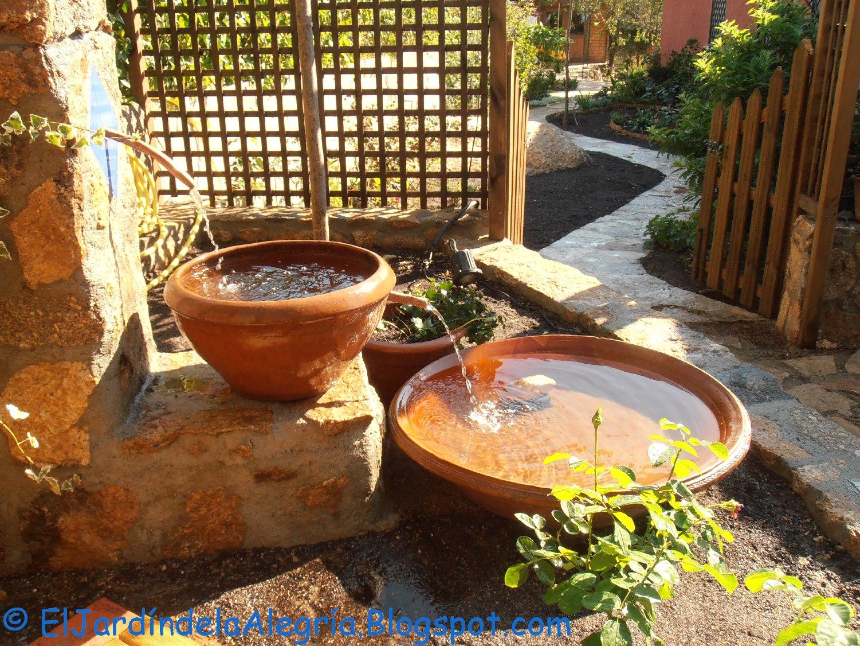 El Jardin De La Alegria Agua Como Instalar Una Bomba De Agua - Fuentes-agua-jardin