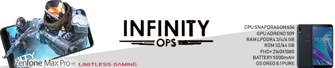 "Game Experience Smartphone "" Limitless Gaming "" Infinity Ops"