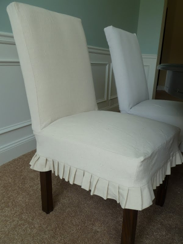 Parsons Chair Cover Pattern Ikea Lerhamn Covers Only From Scratch Slipcovered Chairs For The Dining Room