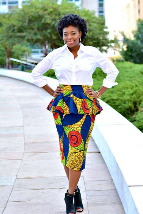 Peplum ankara skirt and blouse styles (3)