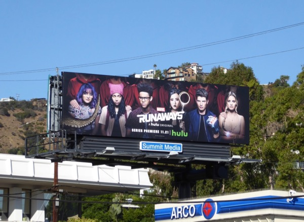 Runaways series premiere billboard