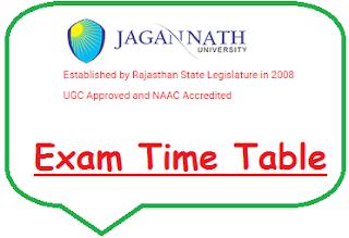 Jagannath University Exam Date Sheet 2020