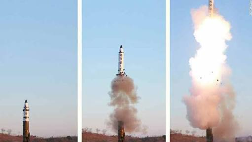 BREAKING NEWS:  Missile successfully launched by North korea aiming at U.S mainland Washington DC
