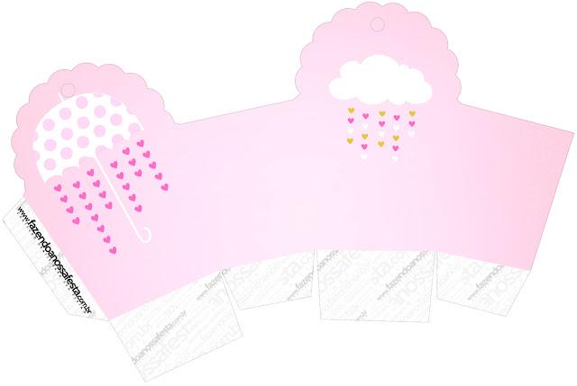 Caja para cupcakes, chocolates o golosinas de Lluvia de Bendiciones para Nena.