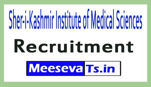 Sher-i-Kashmir Institute of Medical Sciences SKIMS Recruitment