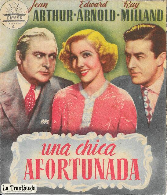 Programa de Cine - Una Chica Afortunada - Jean Arthur - Edward Arnold - Ray Milland