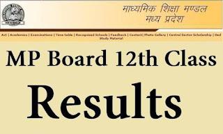 mp board class 12th result 2018