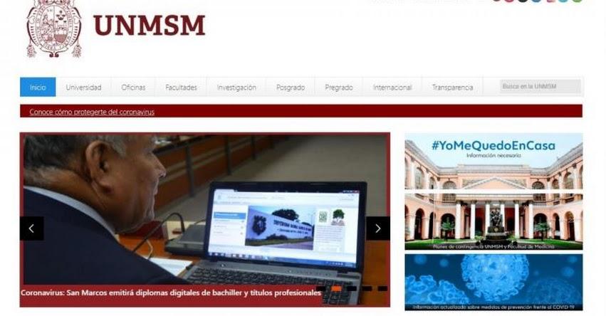 UNMSM: Universidad San Marcos emitirá diplomas digitales de bachiller y títulos profesionales