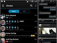 BBM MOD Terbaru Tema DarkIOS V3.3.5.49 Full DP