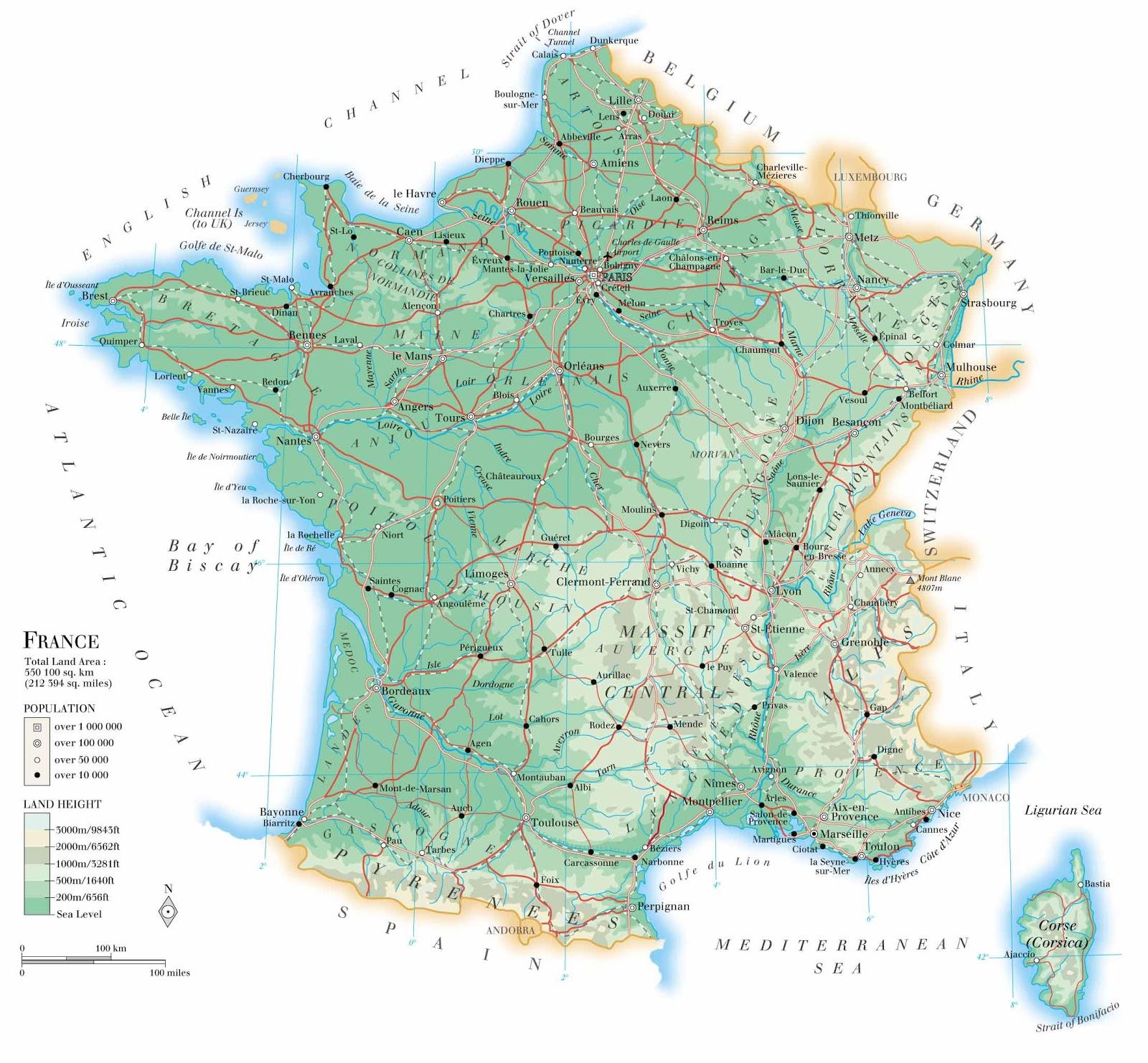 França | Mapas Geográficos da França