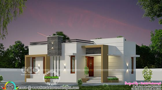 2 BHK 600 square feet small budget home plan