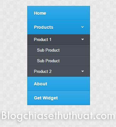 Menu dọc đa tầng cho blogspot/blogger