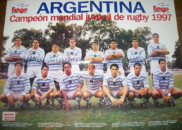 Plantel de Los Pumitas Campeones Mundiales FIRA 1997