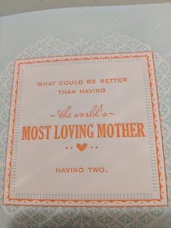 """Card that reads, """"What could be better than having the world's most loving mother? Having two."""""""