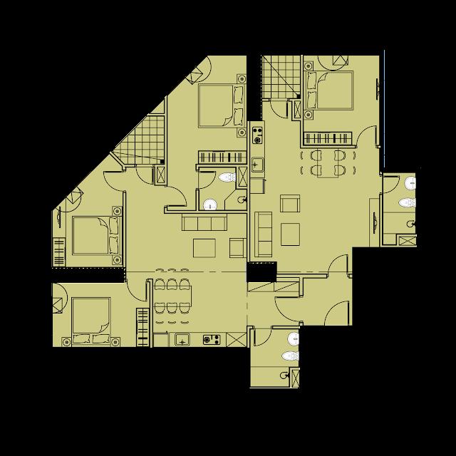 Thiết kế căn hộ D1 - 136,3m2 tòa River1 EuroWindow River Park