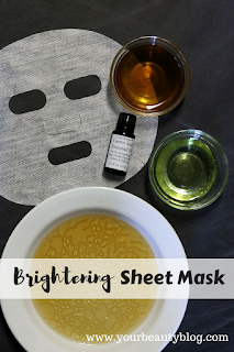 Make this easy and inexpensive sheet mask recipe for brighter skin.
