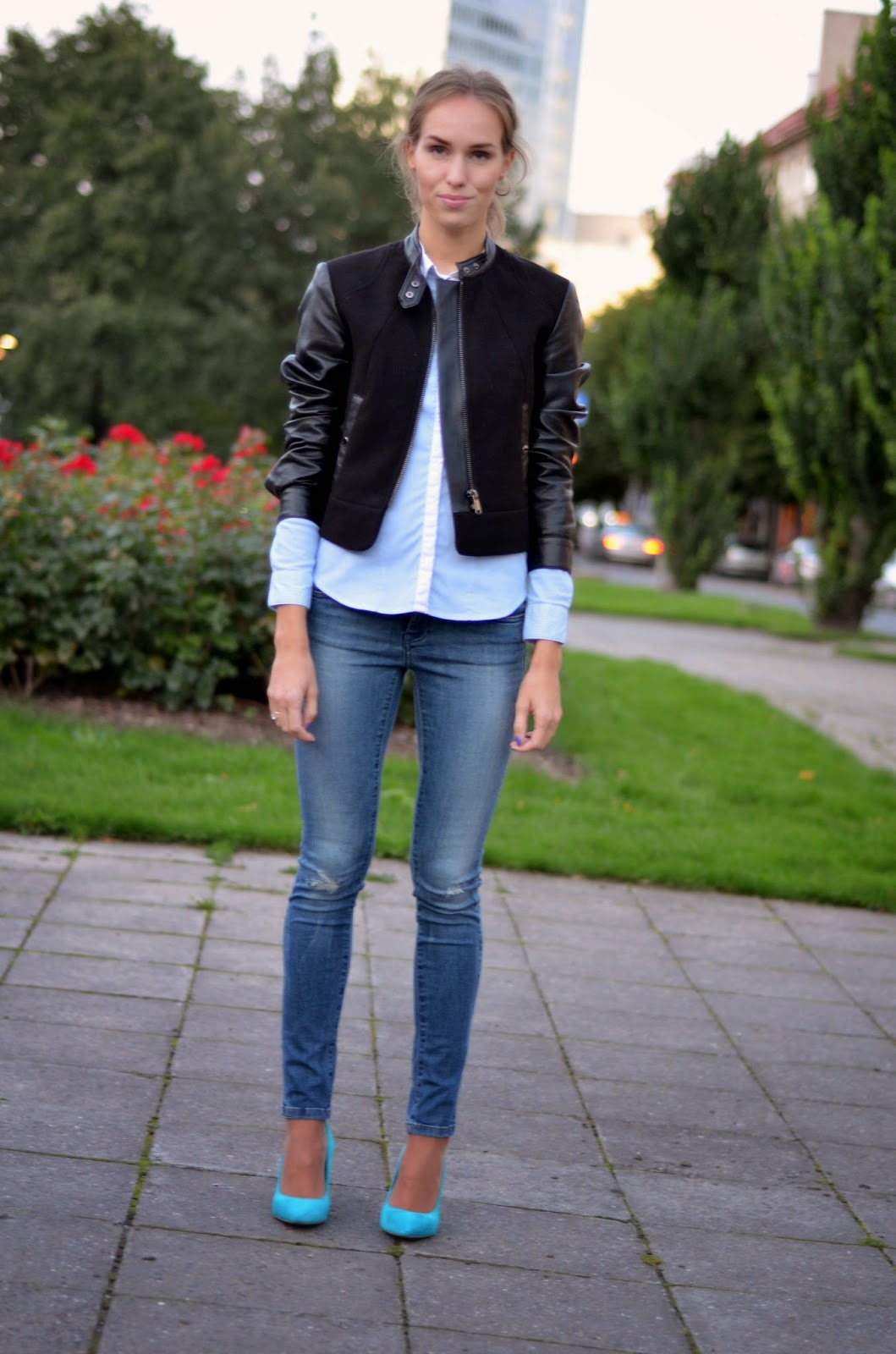 hm-shirt-biker-jacket-zara-ripped-skinny-jeans-river-island-shoes