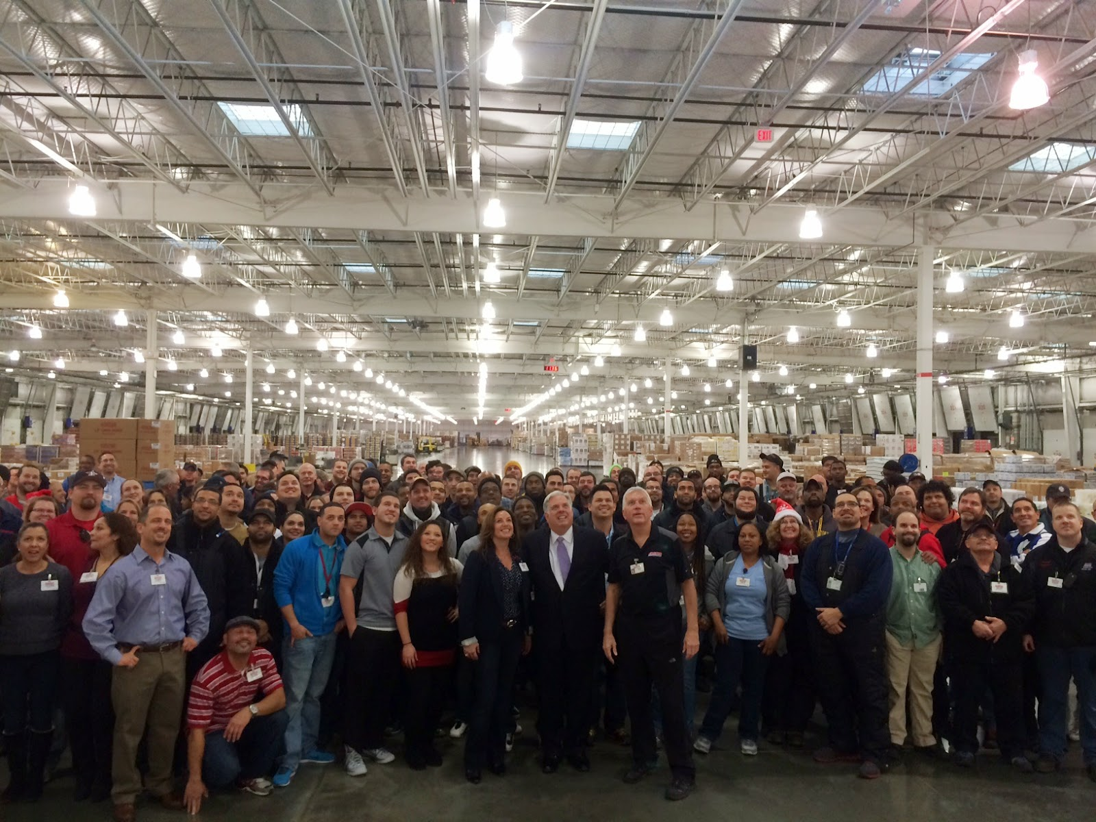 Governor Elect Larry Hogan Visits Costco Distribution Facility In Frederick County Monrovia Md