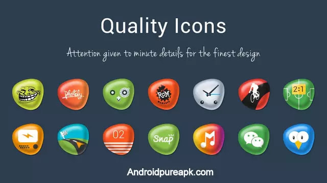 Pebbles Apex/Nova Icon Theme Apk