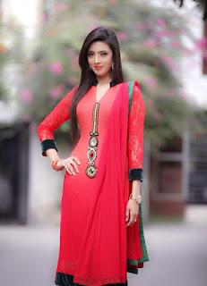 Bidya Sinha Saha Mim Stills Hot In Red Dress
