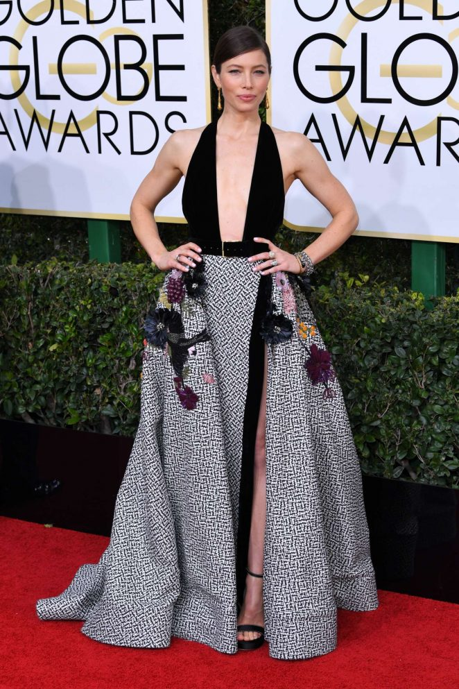 Jessica Biel – 74th Annual Golden Globe Awards in Beverly Hills