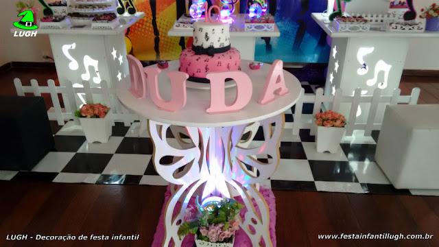 Ornamentação tema Discoteca para festa de aniversário - tema infantil