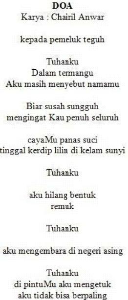 Daftar karya Chairil Anwar - Wikipedia bahasa Indonesia