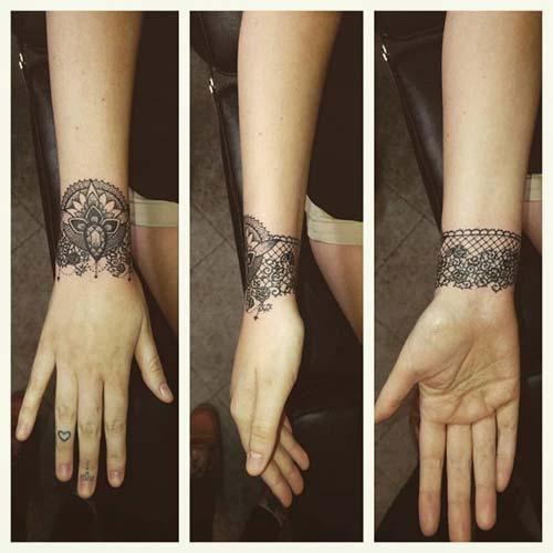 bileklik dantel dövmeleri bracelet lace tattoos