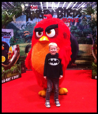 Red Angry Bird at Kidtropolis