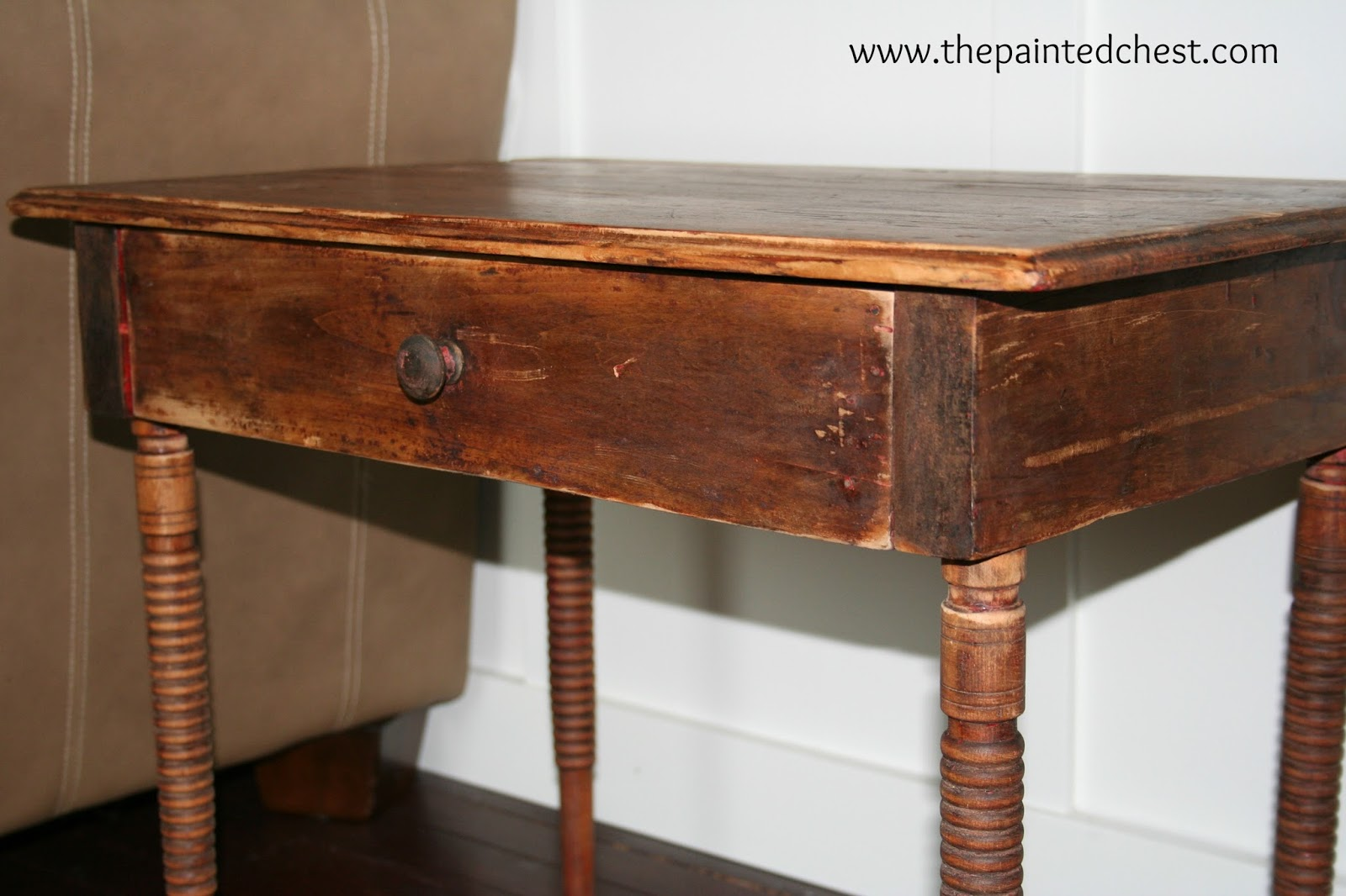 The Painted Chest: Antique End Table