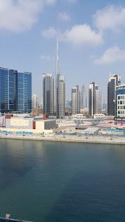 دبي من البحر وجمال المباني