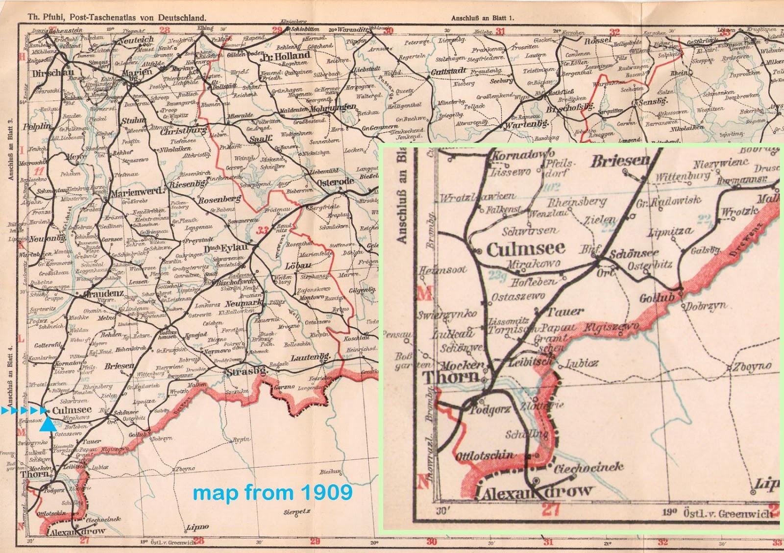 Culmsee railroad map 1909