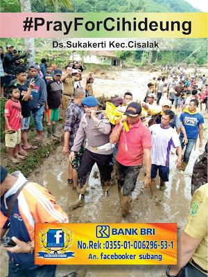 Bantu Korban Banjir Bandang Cisalak, Facebooker Subang Buka Rekening Donasi