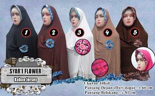 Jilbab syar'i flower, model terbaru dengan hiasan bunga