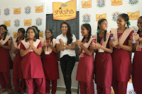 Actress Priya Anand in T Shirt with Students of Shiksha Movement Events 37.jpg