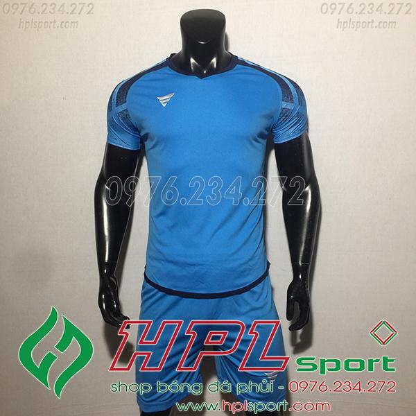 Áo bóng đá không logo TA Eco màu xanh nhạt