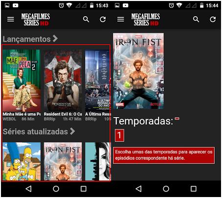 Mega Filmes Series HD - Apk - Aplicativo de Filmes e Séries