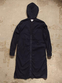 "FWK by Engineered Garments ""Long Bush Dress in Dk.Navy French Twill"""
