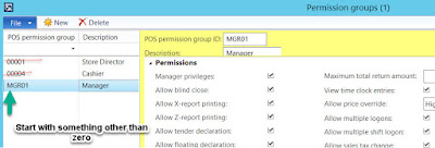 AX POS Permission Groups and Leading Zeros - Solved!