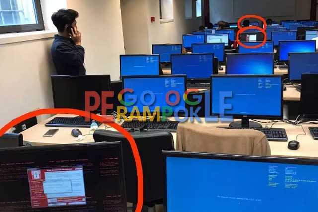 komputer yang sudah terinfeksi ransomware