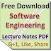 Software Engineering Lecture Notes PDF Download