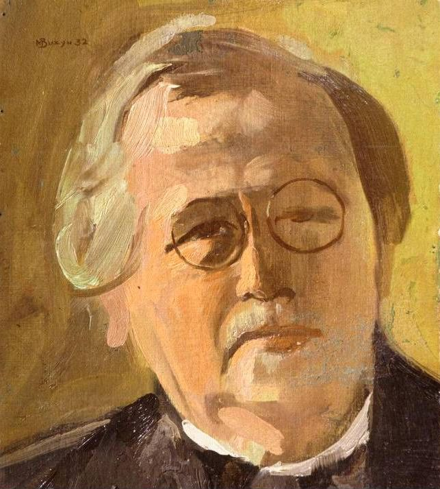 Portret van Constantin Brunner in 1932 geschilderd door Max Busyn (1899 – 1976); Courtesy of the Leo Baeck Institute