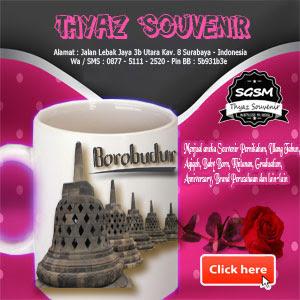 thyaz souvenir gelas murah surabaya