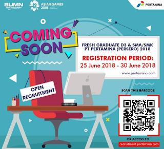 Penerimaan Karyawan PT Pertamina Lulusan SMA/SMK tahun 2018 https://recruitment.pertamina.com/